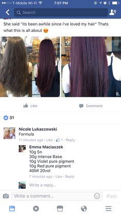 Aveda Hair Color, Hair Colors, Colours, Hair Color Formulas, Hair Color And Cut, Creative Hairstyles, Love Hair, Cosmetology, Hair Ideas
