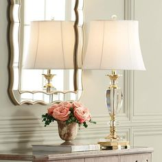 Vienna Full Spectrum Crystal and Brass Table Lamp is a quality Table Lamps for your home decor ideas. Metal Table Lamps, Table Lamp Sets, Glass Table, A Table, Wood Table, Traditional Table Lamps, Home Decor Websites, Fluorescent Lamp, Brass Lamp