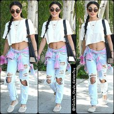 #VanessaHudgens #cute #gorgeous #highheels #supermodel #model #boyfriendjeans #fashion #style #celebrity #printed #hollywood #star #beautiful #CropTop #floraldress #blazer #pretty#stylish #legsfordays #lookbook #look #ootd #outfit #heels... - Celebrity Fashion