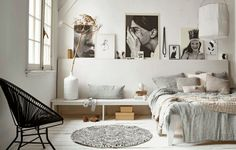 Home Decoration Ideas and Design Architecture. DIY and Crafts for your home renovation projects. Decor Room, Bedroom Decor, Home Decor, Bedroom Ideas, Bedroom Wall, Bedroom Black, Arty Bedroom, Bedroom Storage, Modern Bedroom