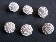 Small Rhinestone Buttons Pave Antique Rhodium by Ribbonsales, $14.99