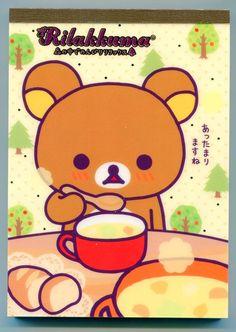 Image 0 of San-X Rilakkuma Relax Bear 5 Design Memo Pad #1 (M0869)