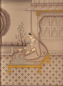 Ragini Miniature Painting India Rajasthani Ethnic Handmade Ragamala Fine Artwork