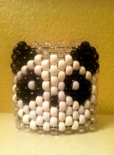 Clear Hello Panda Kawaii Rave Kandi Cuff by KandiQueenBoutique on Etsy