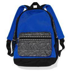 PINK Campus Backpack ($60) ❤ liked on Polyvore featuring bags, backpacks, laptop pocket backpack, polyester backpack, padded backpack, padded laptop backpack et laptop rucksack