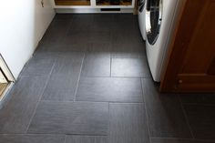 We Ripped Them Out And Replaced With This 12 X 24 Porcelain Tile From Home Depot Laid In A Herringbone Pattern