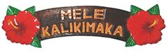 MELE KALIKIMAKA Hawaiian Christmas Hibiscus Carved Wooden Sign -- You can get more details by clicking on the image.
