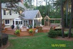 love the sunroom and deck