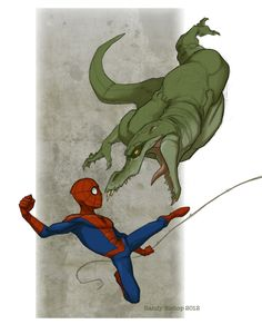 Spidey and Lizard by randybishopart.deviantart.com on @deviantART