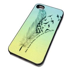 Apple iPhone 5 or 5S Case Cover Skin FEATHERS QUOTE OMBRE DESIGN BLACK HARD Plastic Teen Gift Vintage Hipster Fashion Design Art Print Cell Phone Accessories, http://www.amazon.com/dp/B00GCGG3DY/ref=cm_sw_r_pi_awdm_X-3etb07QCEFJ