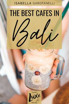 Bali is chock-full of picturesque cafes. Here's a list of the very best ones in each area so that you don't miss out on your perfect latte and Instagram shot. Bali Travel Guide | Best Cafes in Bali | Bali Cafes | Ubud | Canggu | Seminyak | Jimbaran | Uluwatu | Bali Eats | Bali Restaurants | Dining Out in Bali | Best Cafes in Canggu | Best Cafes in Ubud | Best Cafes in Seminyak | Fat Turtle Bali | Kynd Community Bali | Lazy Cats Cafe Bali Travel Guide, Travel Tips, Bali Restaurant, Bacon On The Grill, World's Best Food, Vegan Cafe, Maldives Travel, Cool Cafe, Chock Full
