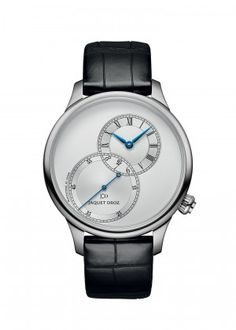 Grande Seconde Off-centered Silver | Silver opaline dial. Stainless steel case. Self-winding mechanical movement. Power reserve of 68 hours. Diameter 39 mm.