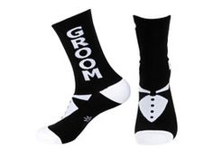 If you're tired of plain, boring socks being worn with your wedding attire, you may want to look into these socks!