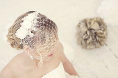 Lace birdcage veil Lace birdcage fascinator by MaijasWeddingBliss