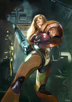 Metroid - Samus Aran by Daniel Vendrell Oduber