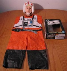This is a 1977 VINTAGE Star Wars The Empire Strikes Back LUKE SKYWALKER X-WING PILOT BEN COOPER CHILDREN'S COSTUME Mask. It is in Good condition in the original box. The Cellophane and box have some wear.