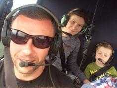 Family on board. Heli Robinson R44.