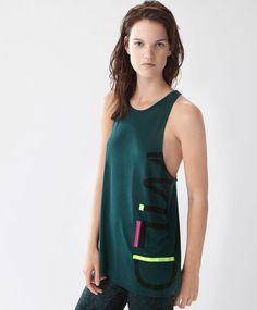 Maglietta senza bretelle wild forest - Novità - Tendenze moda donna AW 2016 su…
