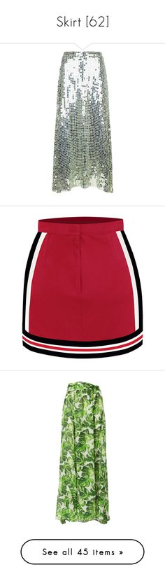 """Skirt [62]"" by gdavilla ❤ liked on Polyvore featuring skirts, temperley london, temperley london skirt, green skirt, heart skirt, bottoms, cheerleader, chassè, red knee length skirt and red skirt"