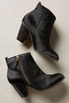 I'd look pretty bad in these. #badlikecool #MexicanWoman Calf Hair Booties #anthropologie