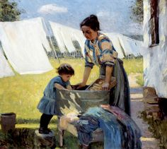 Wash Day - A Back Yard Reminiscence of Brooklyn  Ada Walter Shulz