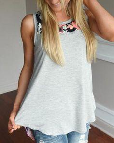 8638c4da79f Fashion Women Summer Sleeveless Shirt Blouse Casual Tank Tops T-Shirt Vest  Tops