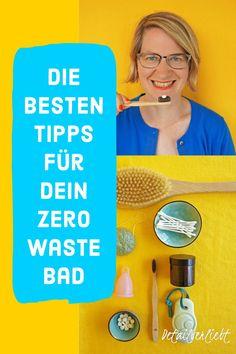 5 einfache Schritte zu Low Waste/Zero Waste im Bad und Nachhaltigkeit im Badezimmer. Werde plastikfrei in Deinem Badezimmer mit DIY Kosmetik selber machen! #nachhaltigkeit #zerowaste #diykosmetik #kosmetikselbermachen Stress, Sport Fitness, Peeling, Dry Brushing, Zero Waste, Muscles, Movie Posters, Vegan, Blog