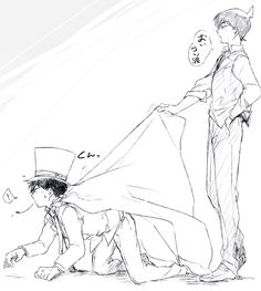 pixiv is an illustration community service where you can post and enjoy creative work. A large variety of work is uploaded, and user-organized contests are frequently held as well. Manga Detective Conan, Detective Conan Shinichi, Conan Comics, Detektif Conan, Dc Anime, Manga Anime, Kaito Kuroba, Detective Conan Wallpapers, Kaito Kid