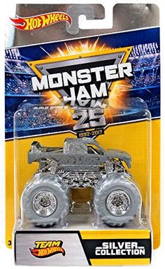 Hot Wheels Monster Jam 25 Silver Collection Grave Digger The Legend Die-Cast Car Monster Jam, Monster Trucks, Eden Design, Puppet Making, Toy Soldiers, 25th Anniversary, Kids And Parenting, Diecast, Toys