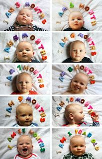 Great idea for babies first year photos. Monthly Baby Photos, Monthly Pictures, Baby Pictures, Cute Pictures, Birthday Pictures, The Babys, Cute Kids, Cute Babies, Photo Bb