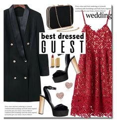"""""""Untitled #2374"""" by beebeely-look ❤ liked on Polyvore featuring wedding, reddress, sammydress, lacedress and winterwedding"""