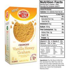 Enjoy Life Allergy Free Vanilla Honey Graham Crunchy Cookies - My favorite for Gluten Free Smores!! (gluten free, soy free, dairy free, nut free, egg free, casein free)