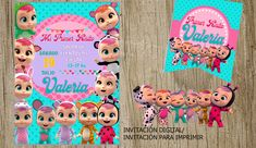 Bday Cards, Baby Invitations, Baby Party, Cry Baby, Ideas Para, Party Time, Crying, Banner, Happy Birthday
