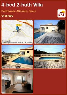 4-bed 2-bath Villa in Pedreguer, Alicante, Spain ►€185,000 #PropertyForSaleInSpain