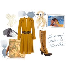 Jane and Tarzans First Kiss by atkinson-adams on Polyvore