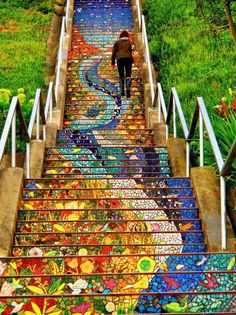 When stairs become #art, every step is worth taking. #streetart