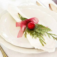 WSH loves this festive arrangement on white porcelain. Via Belgian Pearls.