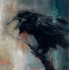 "Daily Paintworks - ""Omen"" - Original Fine Art for Sale - © ~ces~ Christine E. S. Code"
