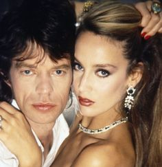 So in love: Mick Jagger & Jerry Hall. Mick relentlessly pursued the Texan beauty until he stole her away from singer Bryan Ferry. (1977-1999)