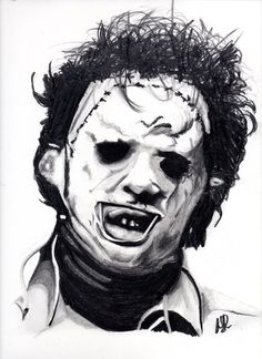 This is a Graphite drawing of LeatherfaceFrom the film texas chainsaw massacre