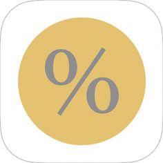 App名: 割引計算・消費税計算-お買い物に便利な計算機 - 税卓、デベロッパ: NISHI TAKASHI  《my覚書:ウェジット内で計算が完了できる優れもの。暫くしたら有料になるみたいで今は無料期間》