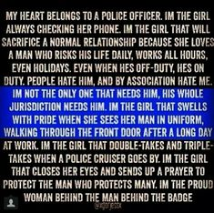 Best Police Wife Marriage Tips- and as an officer myself along with my husband these are great Adam Boyer Police Officer Girlfriend, Police Officer Quotes, Cop Wife, Police Quotes, Police Wife Life, Police Family, Police Sign, Nurse Life, K9 Police