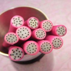Dragon Fruit Nail Fimo Polymer Clay Canes  by KarPenaEnterprises, $2.90