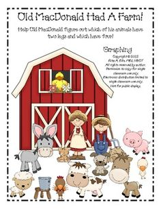 FREE: Classroom Graphing Activity with an Old MacDonald theme.