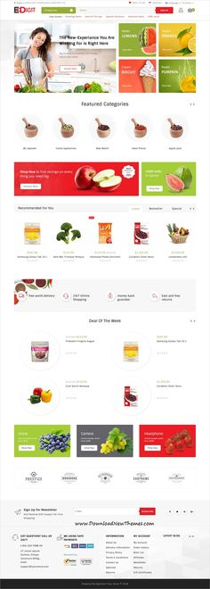 eDigit is clean and modern design 4in1 responsive #OpenCart theme for stunning #organic #store eCommerce website to download & live preview click on image or Visit #webdevelopment