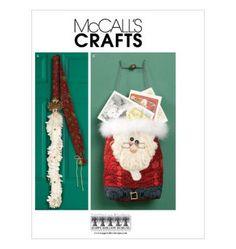 Sew & Make McCall's M6216 SEWING PATTERN - Christmas SANTA DOOR GREETER BAG #McCalls