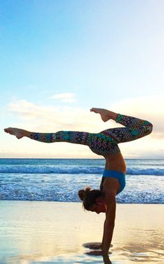 yoga on the beach #fitspo