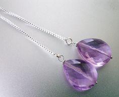 Lavender Quartz Threader Earrings Threader by SueanneShirzay