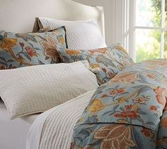 Cynthia Palampore Duvet Cover; Sham - Blue  Gorgeous set from pottery barn!