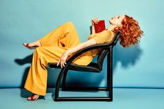 Lounging in a chair, Jessica Chastain wears Missoni t-shirt, Tibi pants, Giuseppe Zanotti sandals and Gucci shoulder bag for The Edit Magazine December 2016